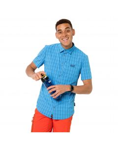 Koszula męska RAYS STRETCH VENT SHIRT MEN brilliant blue checks