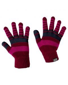 Rękawice CROSS KNIT GLOVES KIDS dark ruby