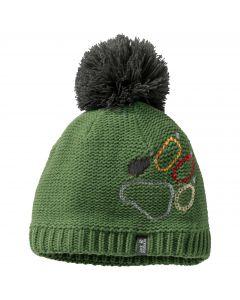 Czapka zimowa dziecięca PAW KNIT CAP KIDS deep forest