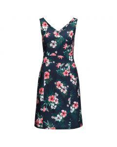 Sukienka WAHIA TROPICAL DRESS midnight blue all over