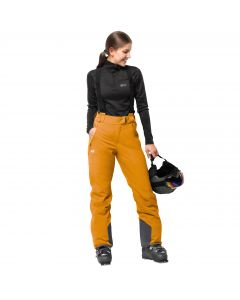 Spodnie EXOLIGHT PANTS WOMEN citrine yellow