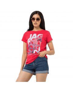 T-shirt damski NAVIGATION T W tulip red