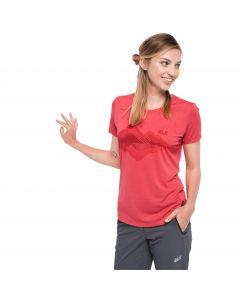 T-shirt damski CROSSTRAIL GRAPHIC T W tulip red